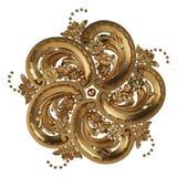 3d ustawiający antyczny złocisty ornament na białym tle Zdjęcie Stock