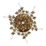 3d ustawiający antyczny złocisty ornament na białym tle Zdjęcie Royalty Free