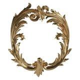 3d ustawiający antyczny złocisty ornament na białym tle Fotografia Stock
