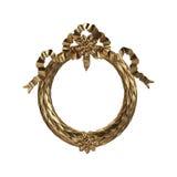 3d ustawiający antyczny złocisty ornament na białym tle Obraz Royalty Free