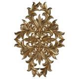 3d ustawiający antyczny złocisty ornament na białym tle Zdjęcia Royalty Free