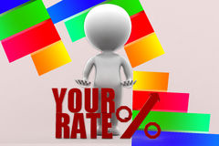 3d Uw Rate Illustration Stock Foto