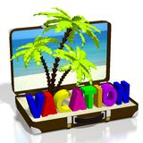 3D vacation concept Stock Photo