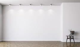3d vacian el interior con las paredes blancas stock de ilustración