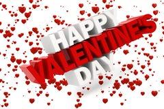 3d valentine szczęśliwy dzień ilustracja wektor
