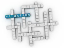 3d Valuation Concept word cloud Royalty Free Stock Images