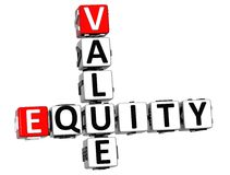 3D Value Equity Crossword Stock Photography