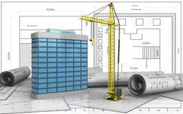 3d van de generische bouw royalty-vrije illustratie