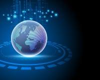 3d van de het netwerkverbinding van Wereld globale Internet grote de gegevensinformatie stock illustratie