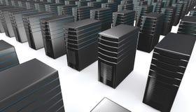 3d van de servers van het netwerkwerkstation Stock Fotografie