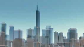 3D van de de stadshorizon van Chicago architecturale achtergrond vector illustratie