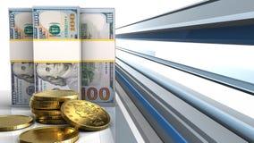 3d van dollarbankbiljetten Royalty-vrije Stock Afbeelding