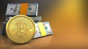 3d van dollarsstapel Stock Foto
