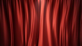 3D van het de zijdefluweel van de illustratieluxe rode ontwerp van de de gordijnendecoratie, ideeën Rood Stadiumgordijn voor thea Royalty-vrije Stock Afbeelding