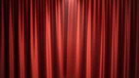 3D van het de zijdefluweel van de illustratieluxe rode ontwerp van de de gordijnendecoratie, ideeën Rood Stadiumgordijn voor thea Stock Afbeelding