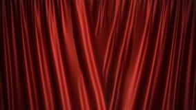 3D van het de zijdefluweel van de illustratieluxe rode ontwerp van de de gordijnendecoratie, ideeën Rood Stadiumgordijn voor thea Royalty-vrije Stock Fotografie