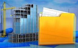 3d van modern de bouwkader Royalty-vrije Stock Fotografie