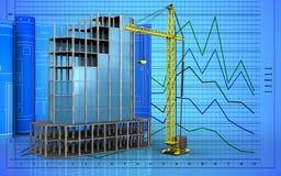 3d van modern de bouwkader Stock Foto's