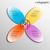 3D variopinto infographic Fotografia Stock