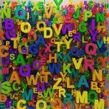 3D variopinto segna il backgorund con lettere Immagine Stock Libera da Diritti