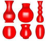 3d Vase. Illustration of 3d Vase set Royalty Free Stock Photography