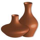 3d vases against white Stock Images