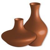 3d vases against white Stock Images