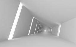 3d vazio abstrato interior, corredor branco Fotografia de Stock