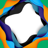 3d vector abstract background with cut shapes Royalty Free Stock Images