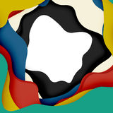 3d vector abstract background with cut shapes Royalty Free Stock Photos