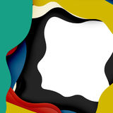 3d vector abstract background with cut shapes Stock Photos