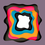 3d vector abstract background with cut shapes Stock Photography