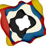 3d vector abstract background with cut shapes Stock Photo