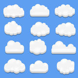 3d vector -  Abstract cloud. 3d vector -  Abstract cute cloud Royalty Free Stock Photo