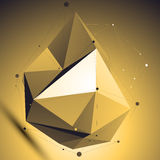 3D vector abstract colorful technology illustration, perspective Stock Image