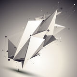 3D vector abstract design contrast template, polygonal complicat Royalty Free Stock Photography