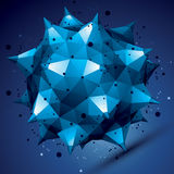 3D vector abstract design object, bright polygonal figure Royalty Free Stock Images