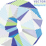 3D vector abstract design object, polygonal complicated backgrou. Nd. Colorful three-dimensional deformed striped shape, render Royalty Free Stock Photography