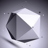 3D vector abstract design scientific template, spherical complic Royalty Free Stock Photo