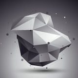 3D vector abstract design template, polygonal complicated contra Stock Images