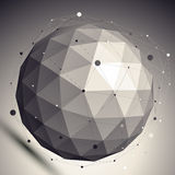 3D vector abstract design undertone template, spherical contrast Stock Photos