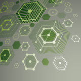 3d vector abstract green background created in Bauhaus retro sty Stock Images