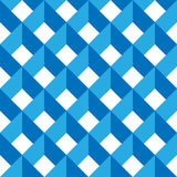 3D vector abstract seamless pattern. Blue grid.  Stock Image