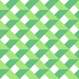 3D vector abstract seamless pattern. Green grid.  Royalty Free Stock Photo