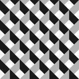 3D vector abstract seamless pattern. Grey grid.  Stock Images