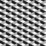 3D vector abstract seamless pattern. Grey grid.  Royalty Free Stock Images