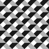 3D vector abstract seamless pattern. Grey grid.  Royalty Free Stock Image