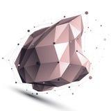 3D vector abstract tech illustration, geometric Stock Photo
