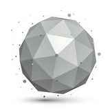 3D vector abstract tech orb illustration, perspective Stock Images