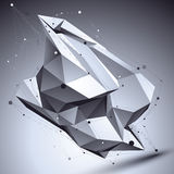 3D vector abstract technological illustration, perspective geome Royalty Free Stock Photography
